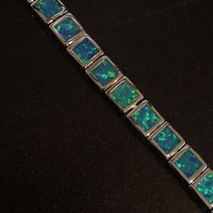 Fire Opal Bracelet. Adjustable. Worn once
